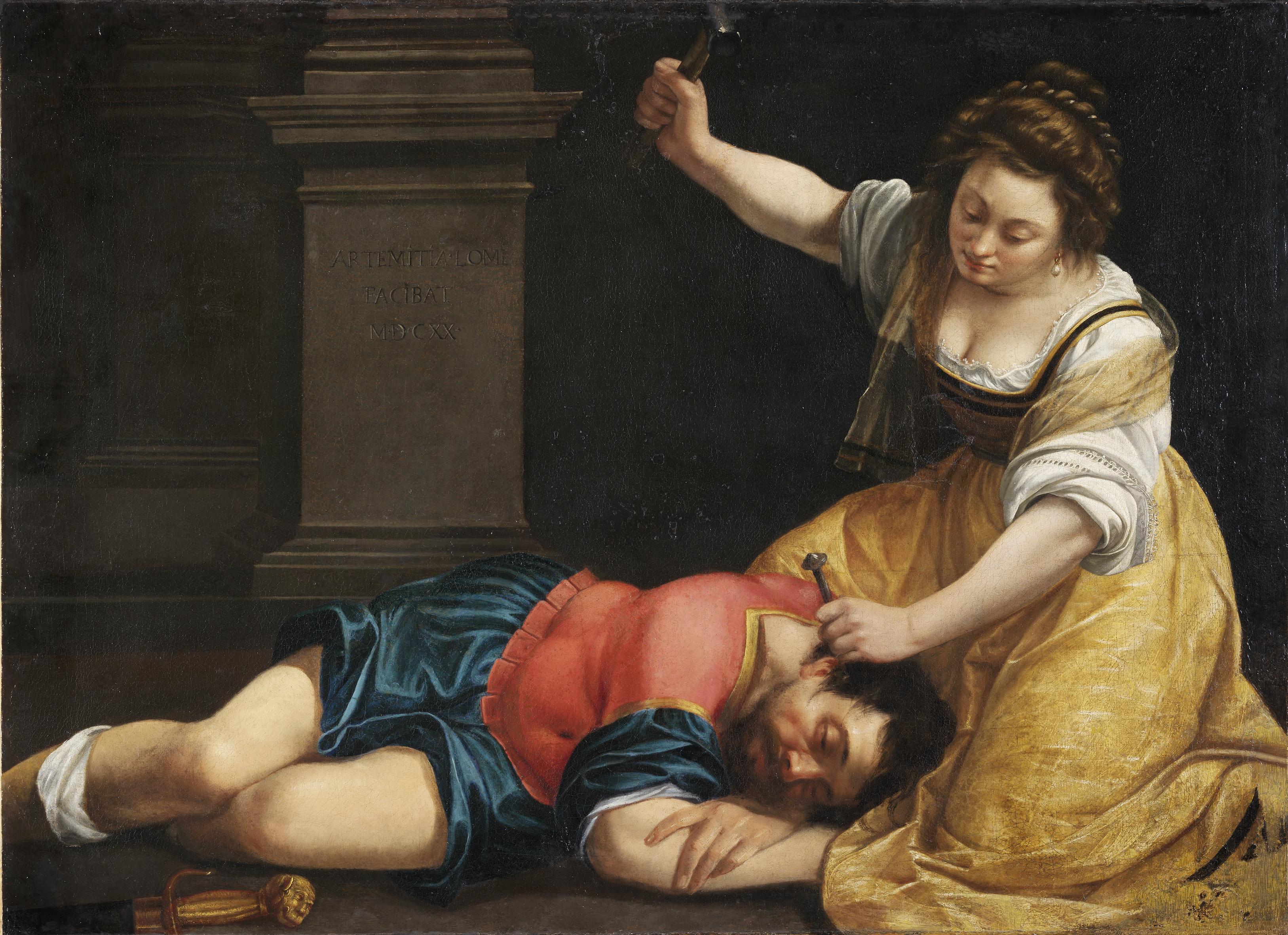 Jael and Sisera_Artemisia Gentileschi - Palazzo Braschi