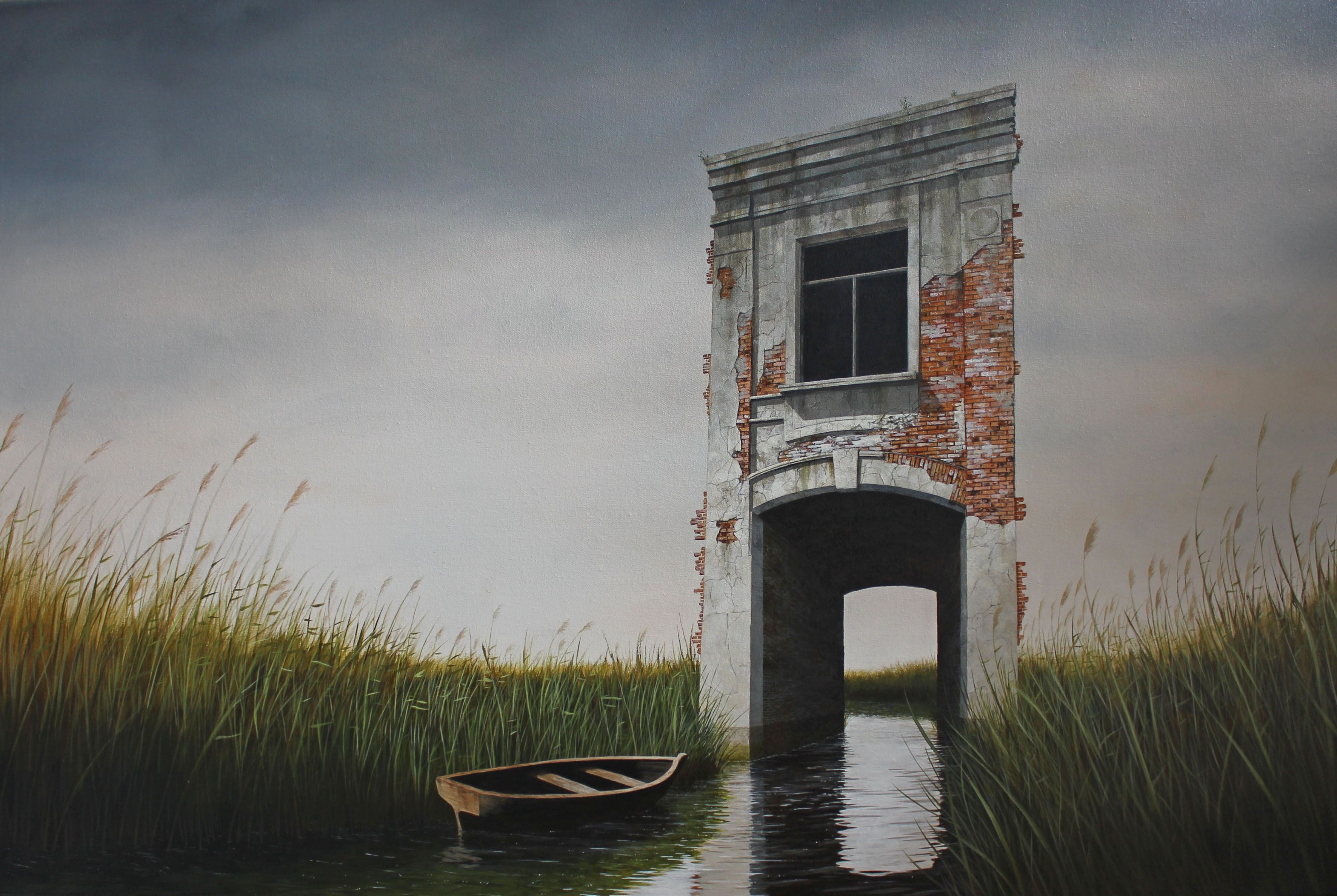 Lee Madgwick - Fragments - oil_acrylic on canvas 120 x 80cm - 2017
