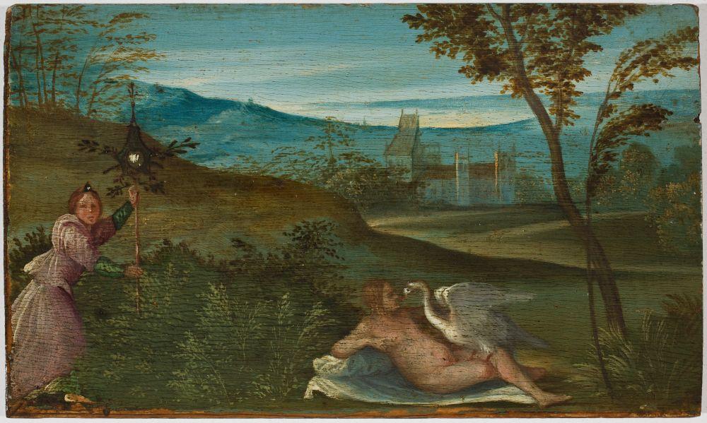 Giorgio da Castelfranco, detto Giorgione (Castelfranco Veneto 1477 c. - Venezia 1510) Leda e il cigno 1499-1500