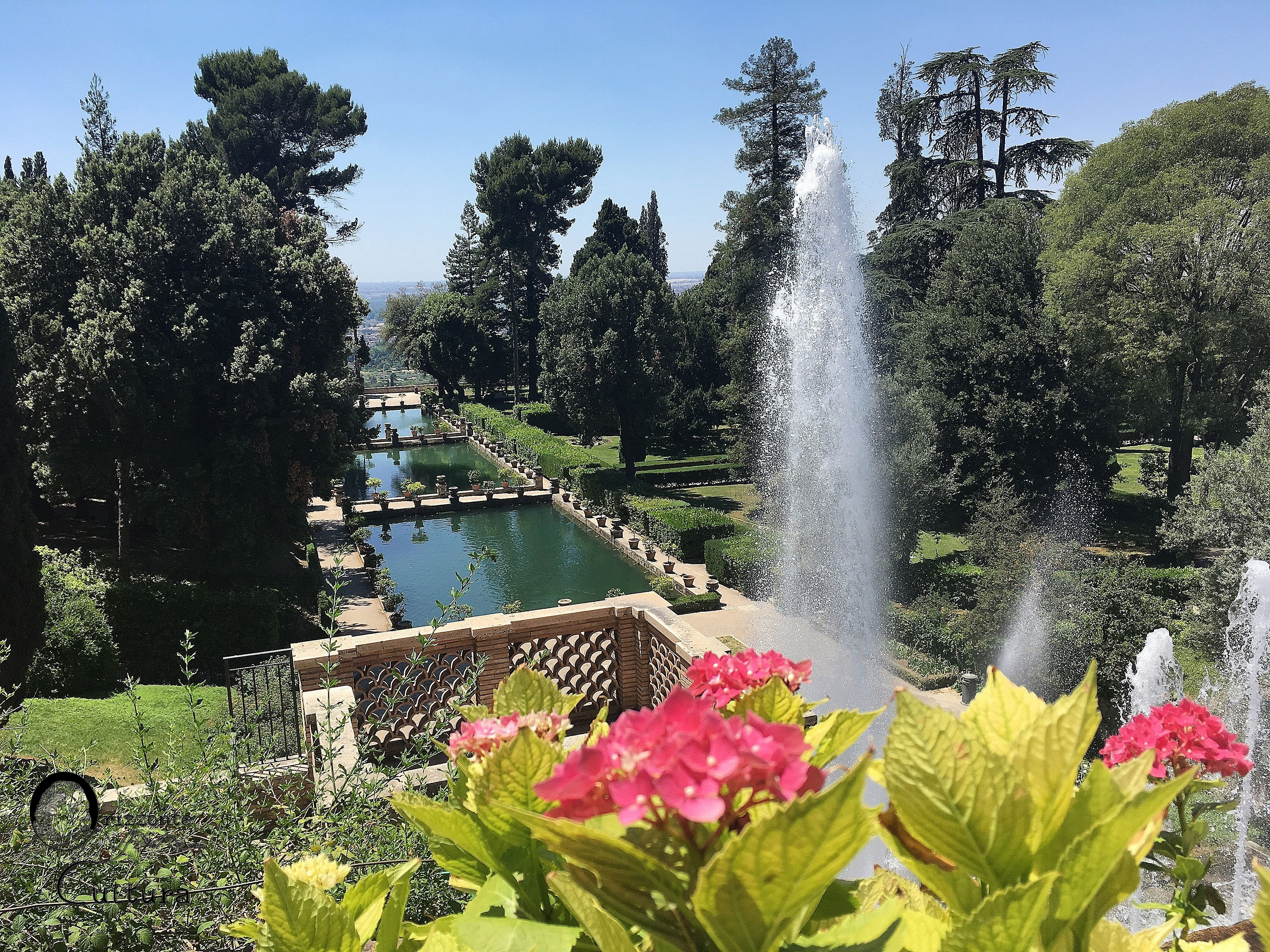 Villa D'Este a Tivoli - Veduta della Peschiera