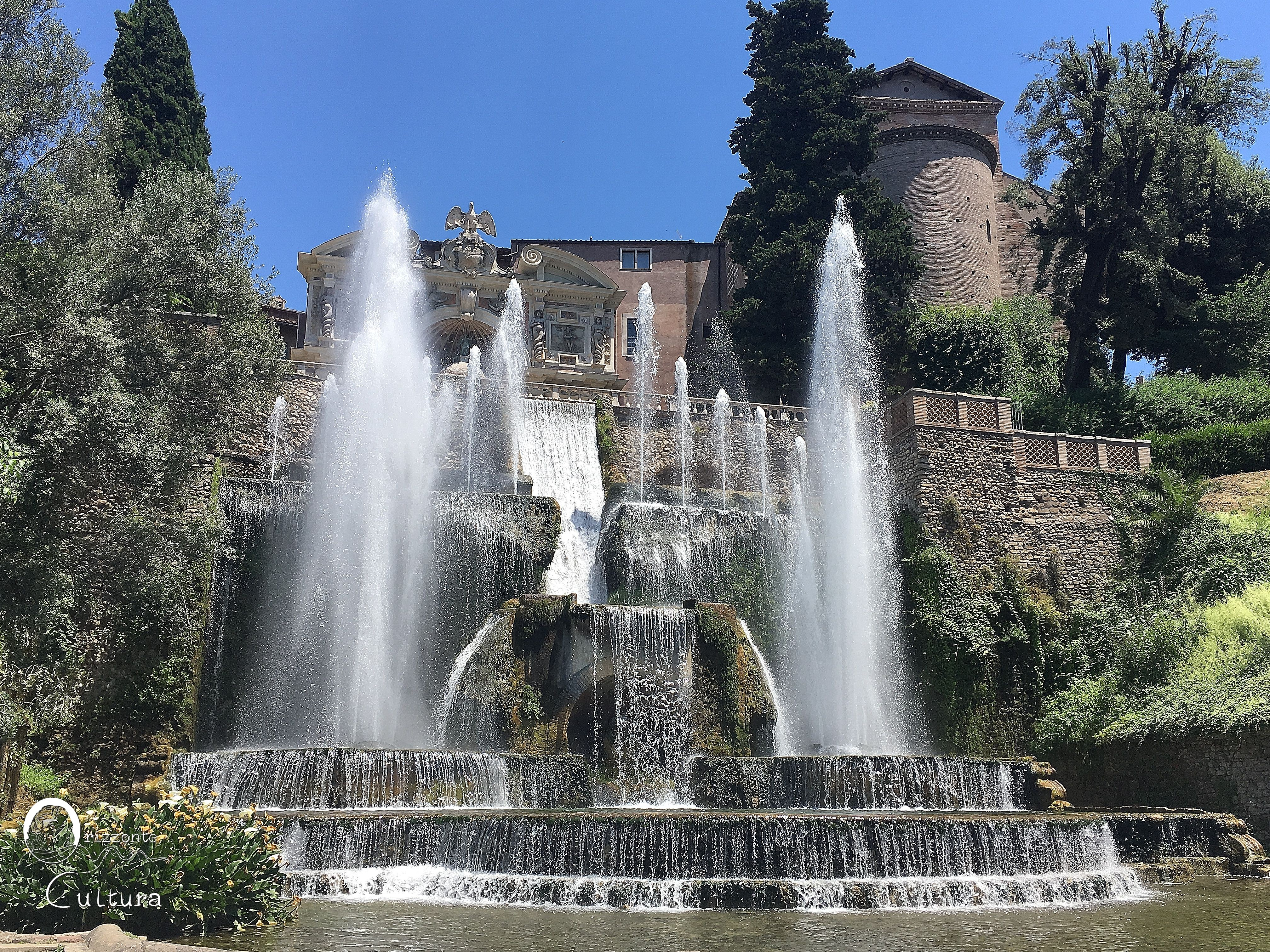 Fontana di Nettuno - Villa d'Este a Tivoli - Orizzonte Cultura