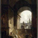 Hubert Robert, Vue pittoresque du Capitole Avec la statue équestre de Marc-Aurèle, Valenciennes, 1774, Musée des Beaux-Arts inv. P46-1-499 Foto © RMN-Grand Palais / René-Gabriel Ojéda
