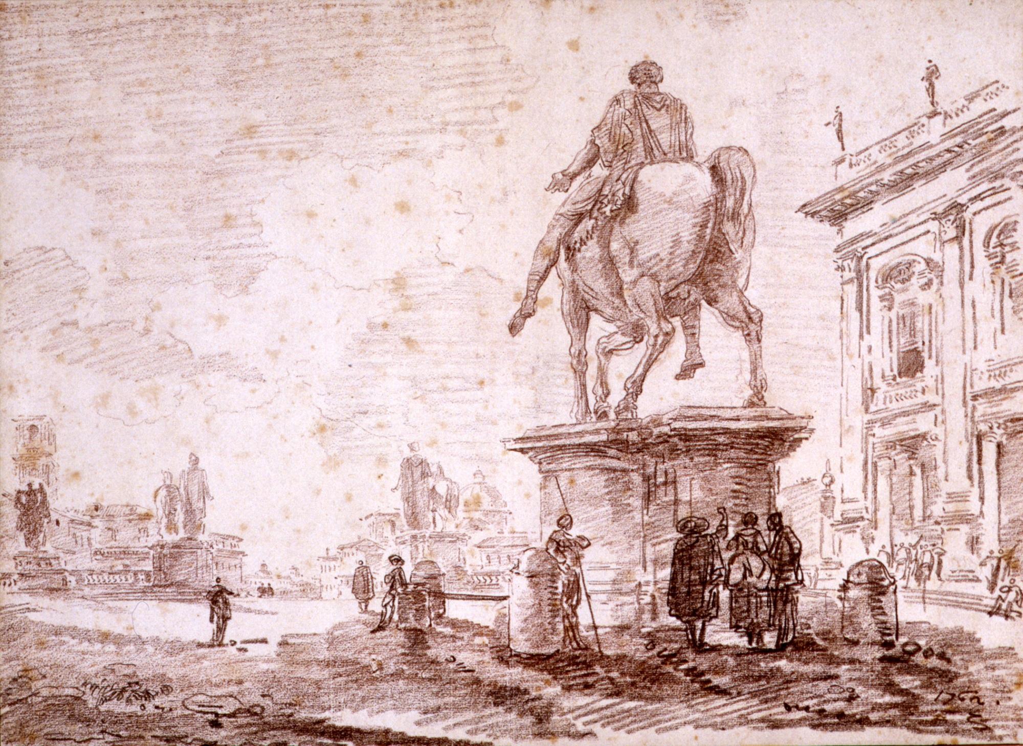 Hubert Robert, Piazza del Campidoglio