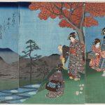 Utagawa Hiroshige, Luna riflessa sulla superficie delle risaie a Sarashina nella provincia di Shinano (1853, quinto mese)