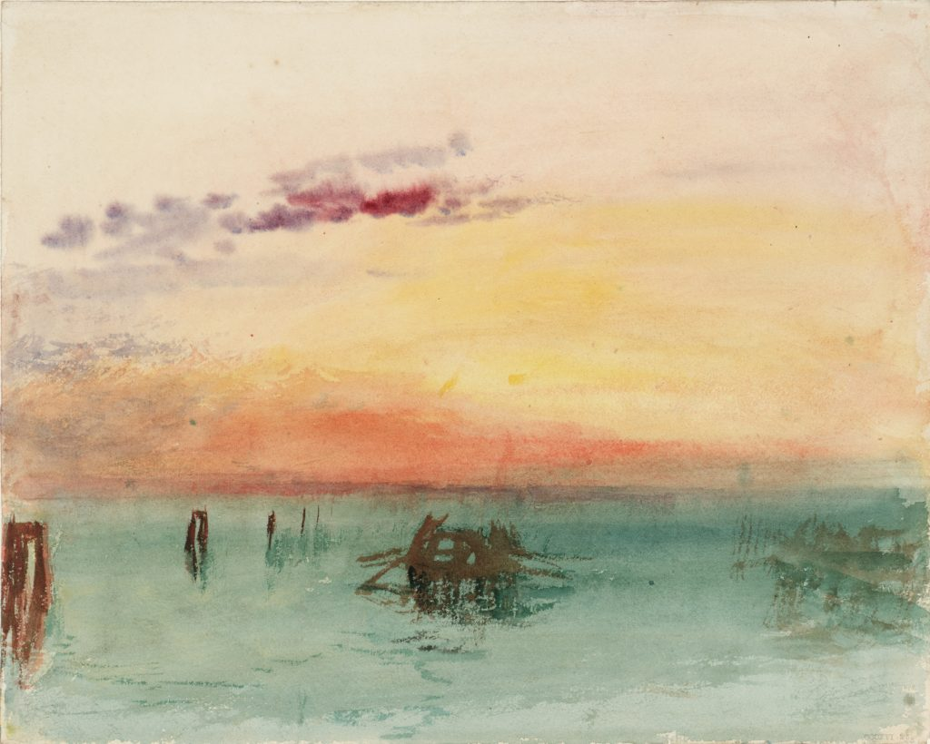 © J. M. W. Turner, Venice: Looking across the Lagoon at Sunset 1840 Watercolour on paper Tate: Accepted by the nation as part of the Turner Bequest 1856