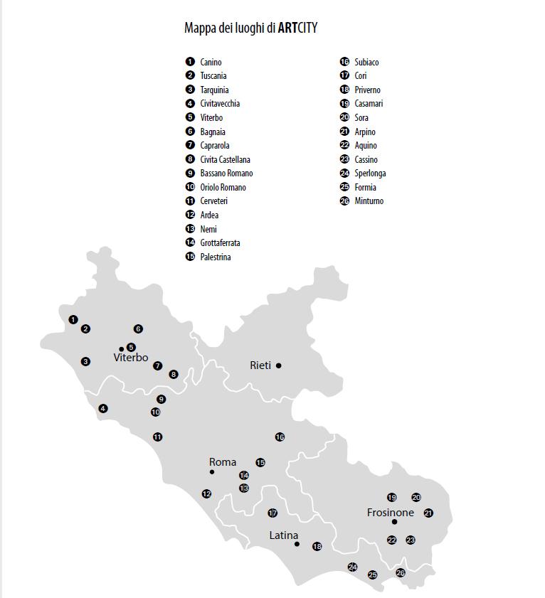 MAPPA dei luoghi di ArtCITY