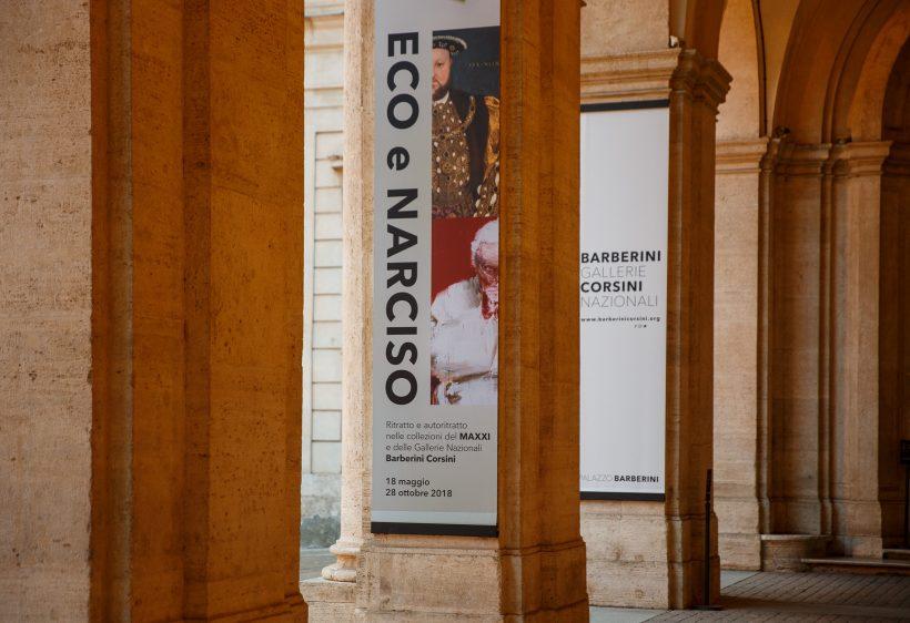 Ingresso mostra Eco e Narciso a Palazzo Barberini (ph. Alberto Novelli)
