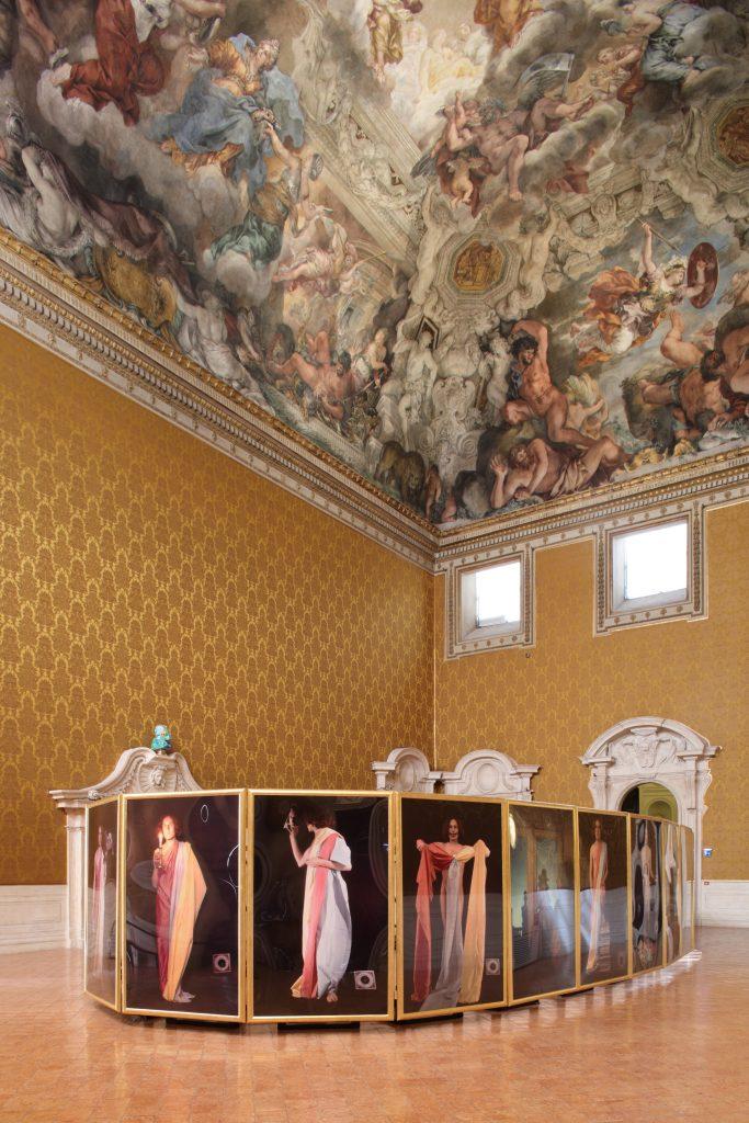 Sala Pietro da Cortona - Luigi Ontani, Le Ore (ph. Alberto Novelli)