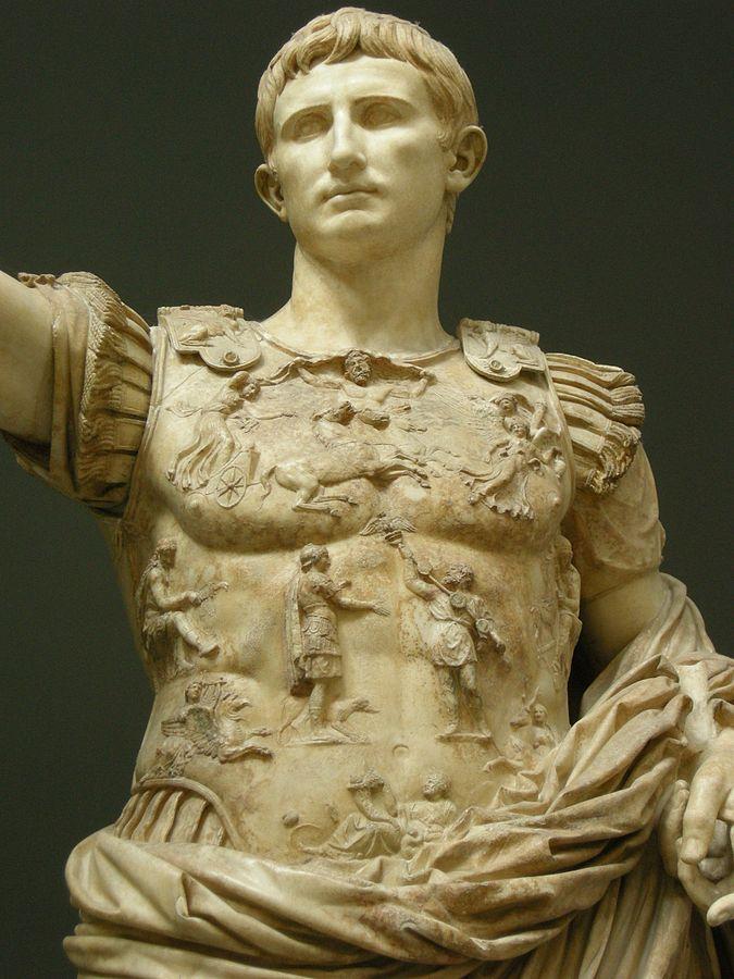 Augusto di Prima Porta (Di I, Sailko, CC BY-SA 3.0, https://commons.wikimedia.org/w/index.php?curid=9944655)