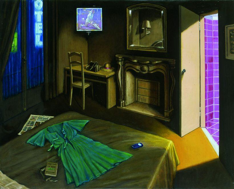 Sergio Ceccotti, La robe verte, 2008. Olio su tela, 81 x 100 cm. Foto di Riccardo Ragazzi