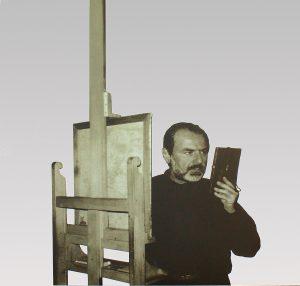 Michelangelo Pistoletto, Tra specchio e tela Serigrafia su acciaio inox lucidato a specchio Eseguito nel 1988