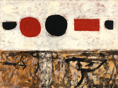 Adolph Gottlieb (1903-1974), The Frozen Sounds, Number 1, 1951